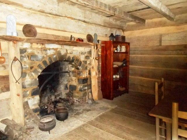 The cabin interior.