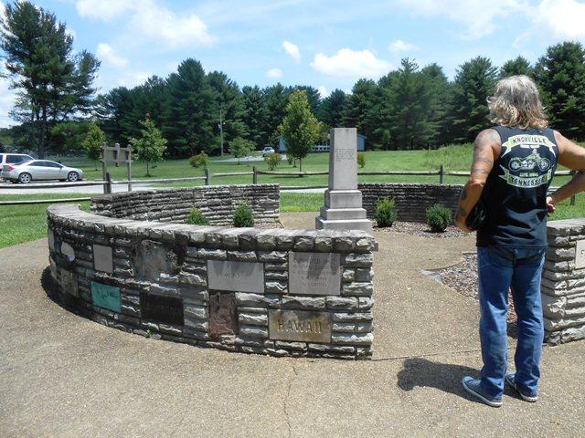 Monument for Davy Crockett.
