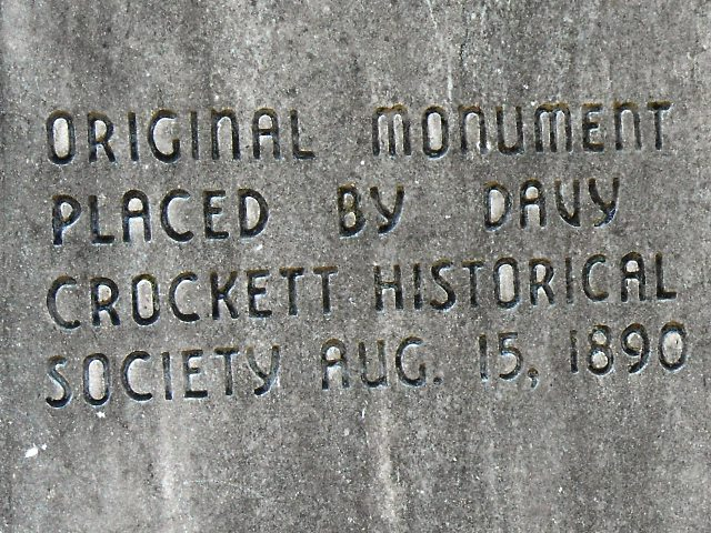 The original monument was placed in 1890.