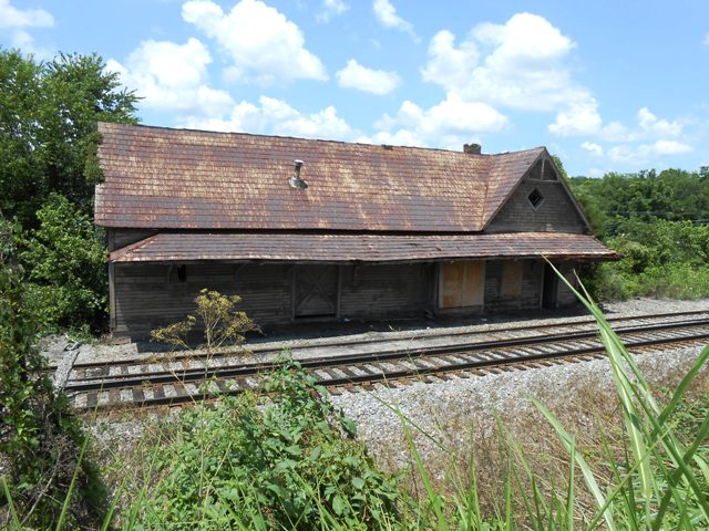 Look at that wonderful old railroad station!