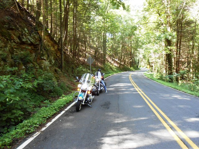On 107 traveling through the Cherokee National Forest.