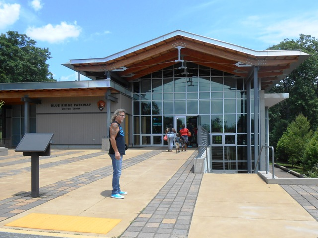 The Blue Ridge Parkway Visitor Center is a gorgeous design.
