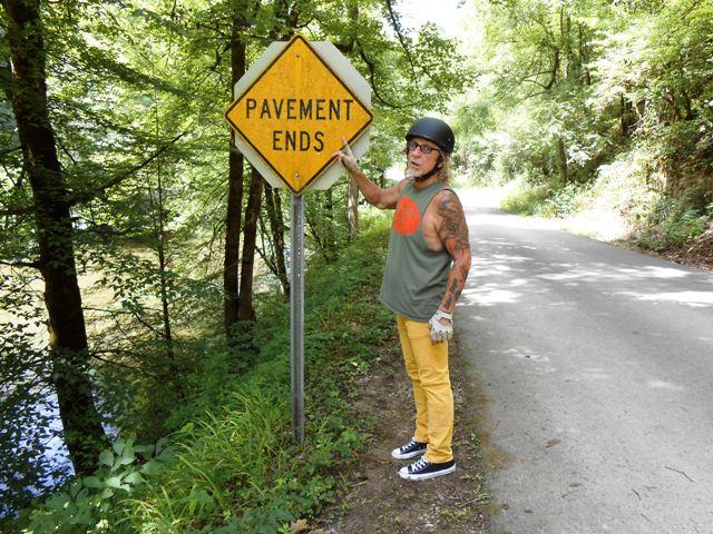 Yep... pavement ends.
