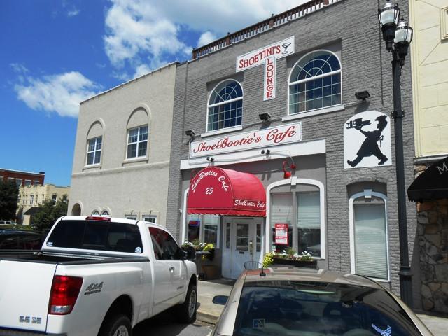 Shoe Booties Cafe in downtown Murphy.