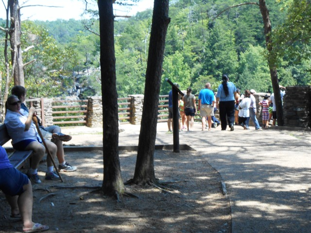 Quite a few folks are checking out the Overlook.
