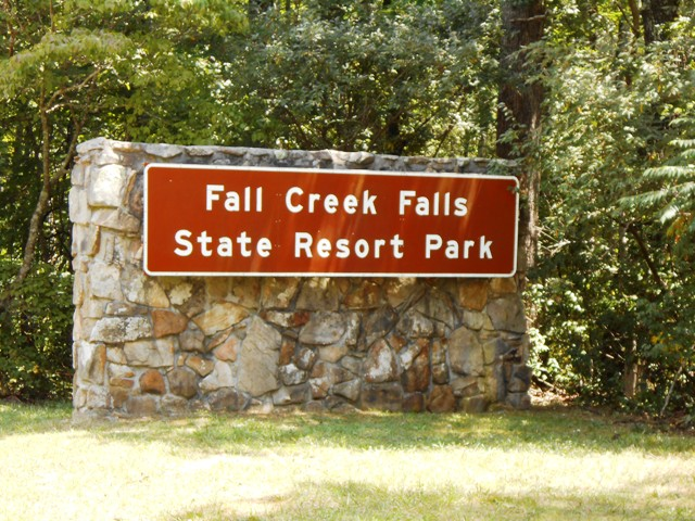 Entrance to Fall Creek Falls State Resort Park.