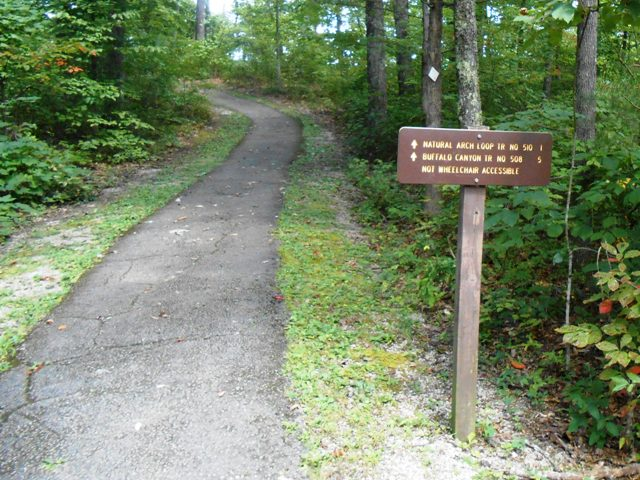 The trail head.