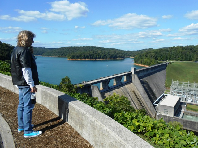 We stopped at the overlook at Norris Dam.