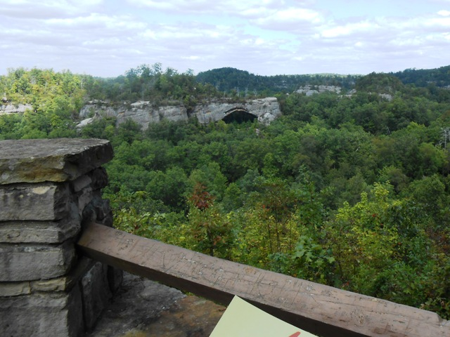 The view from this overlook just off the parking area is spectacular!