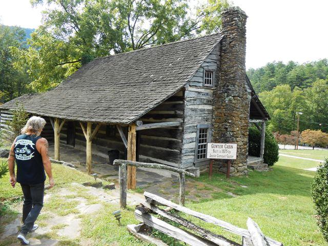 The historic Gunter Cabin at Fontana Village.