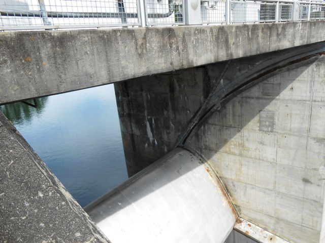 At Fontana Dam, visitors get a close of view of the dam gates.