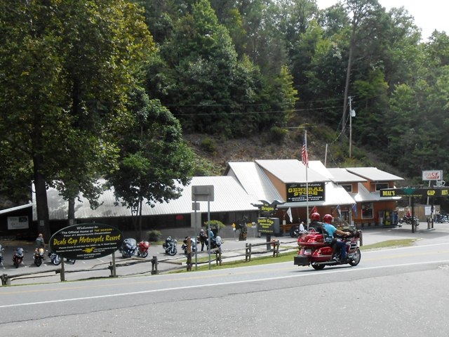 Deals Gap Motel is right across the street. A motorcycle mecca!