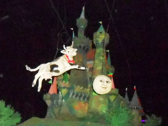 Inside Mother Goose Village you can see the cow jumping over the moon!