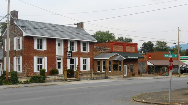 Historic buildings in downtown Benton.