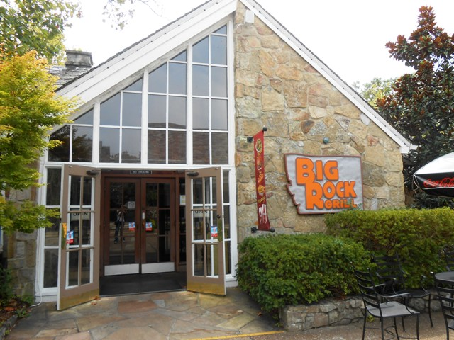 The Big Rock restaurant is right at the entrance to Rock City.