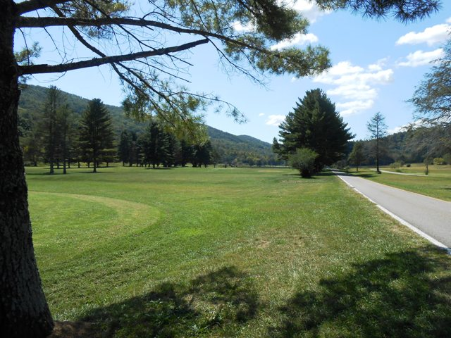View down the golf course from the Club House.
