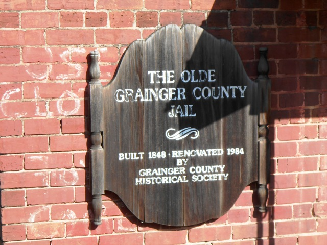 Close up of the jail plaque.