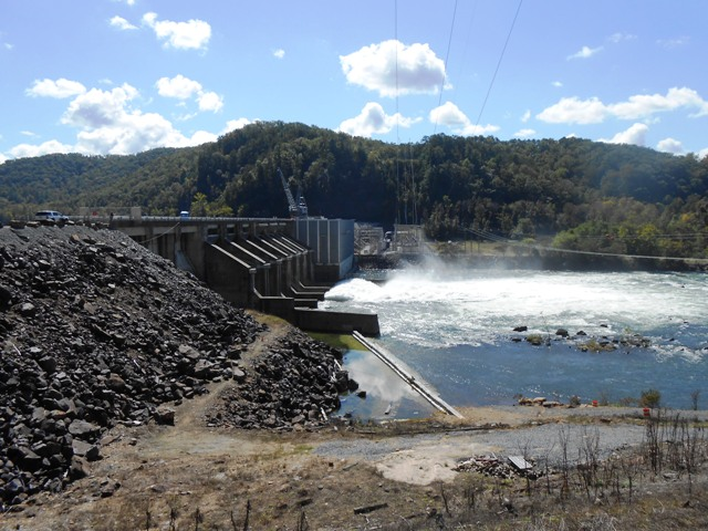 We stopped at the Chilhowee Dam where the water is being released.