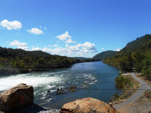 View below the dam.