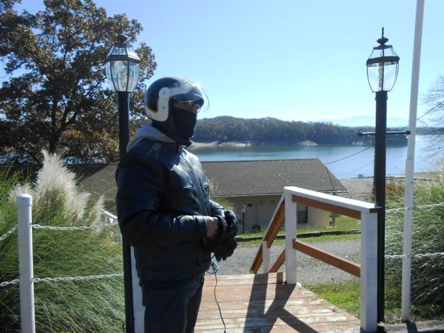 Jeff enjoys the view of Douglas Lake.