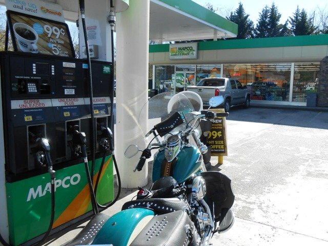 We fueled up at the Mapco on Magnolia.