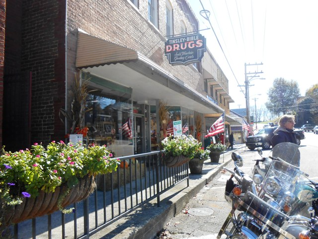 Tinsley Bible Drug Store in Dandridge.