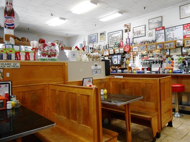 It's an old time diner inside!