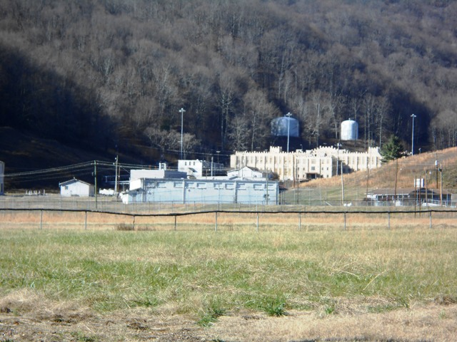 Closer view of Brushy Mountain State Prison. (No longer in use.)