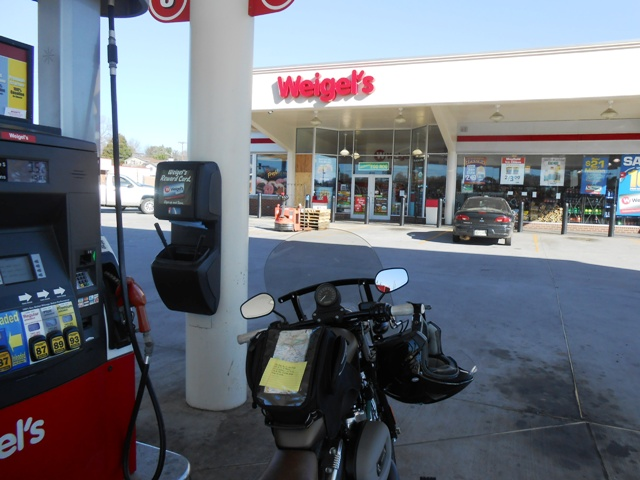 First, we stopped to fuel up.