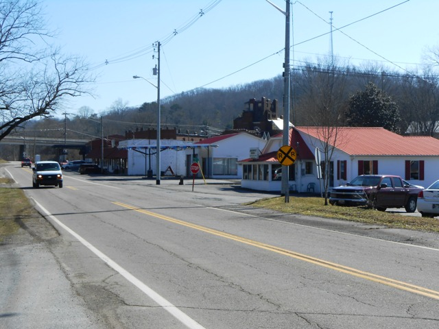 Traveling through Oliver Springs.
