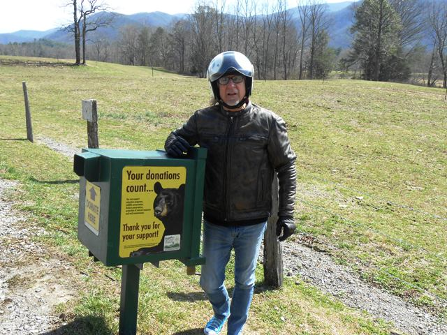 There are a few donation boxes along the route. Here's Jeff with the box at the beginning of the loop.