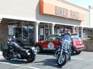 Our ride begins at Biker Rags.