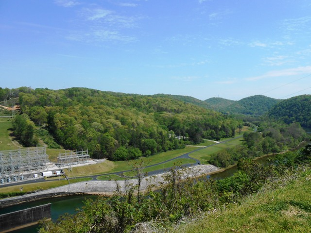 View below the dam.