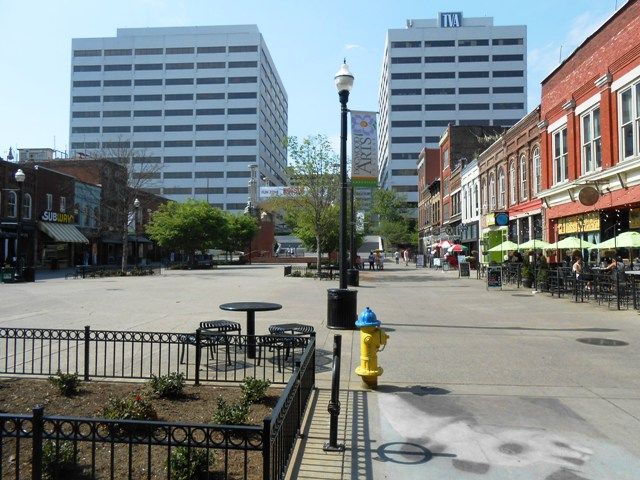 Market Square in downtown Knoxville.
