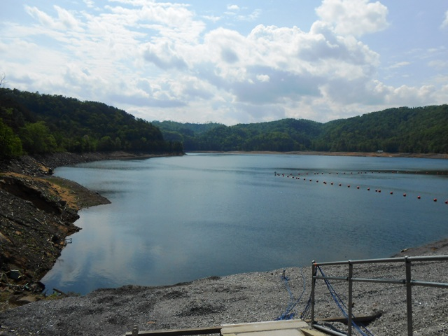 Backside of Chilowee Dam