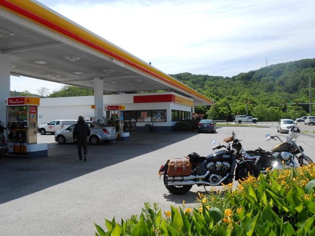 Fueling up in Oak Ridge.