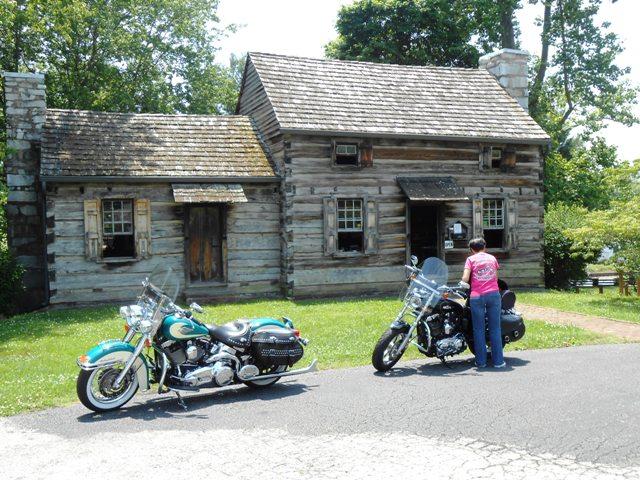 The replica tavern.