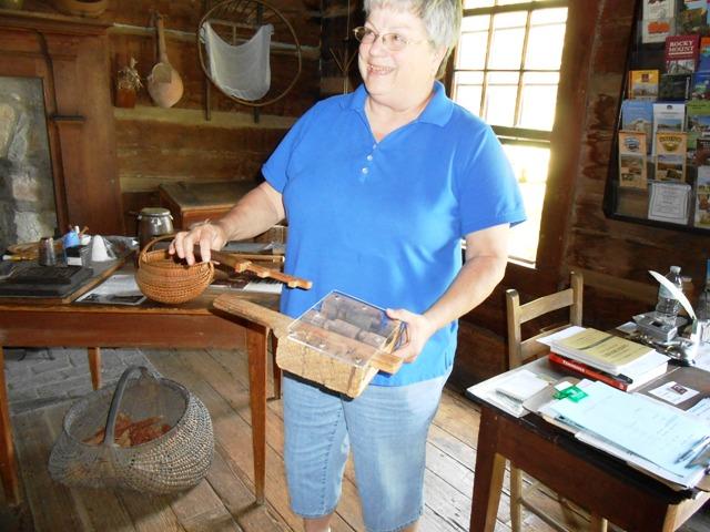Sally shows us pioneer lock engineering.