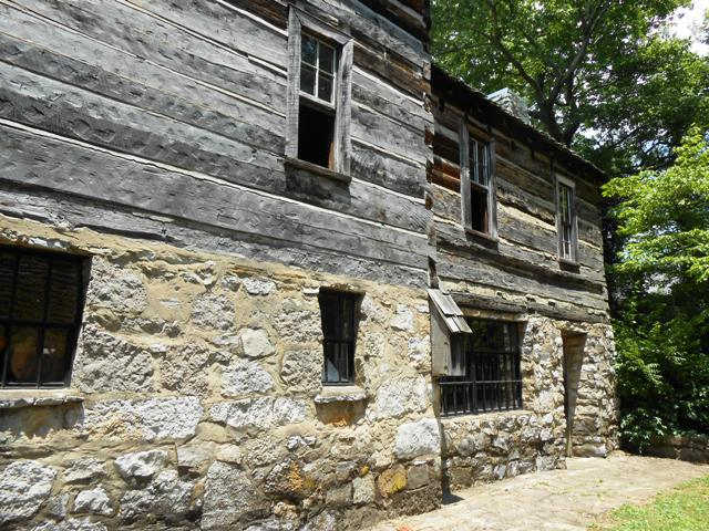 The backside of the tavern.