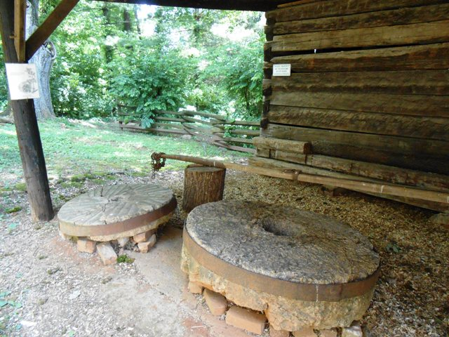 Original millstones from the Davy Crockett birthplace in