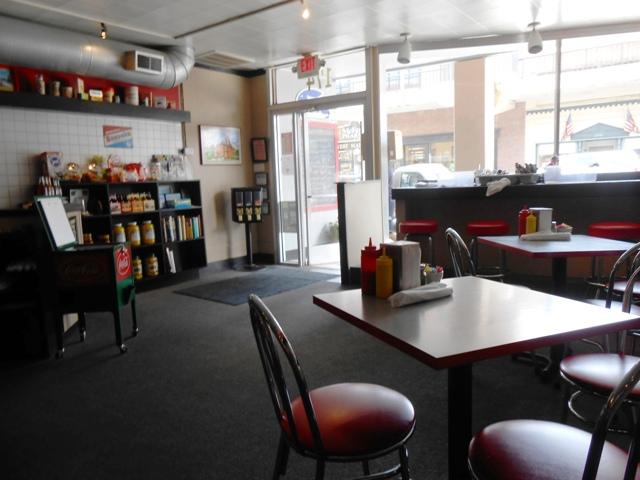 Inside Jersey Girl Diner.