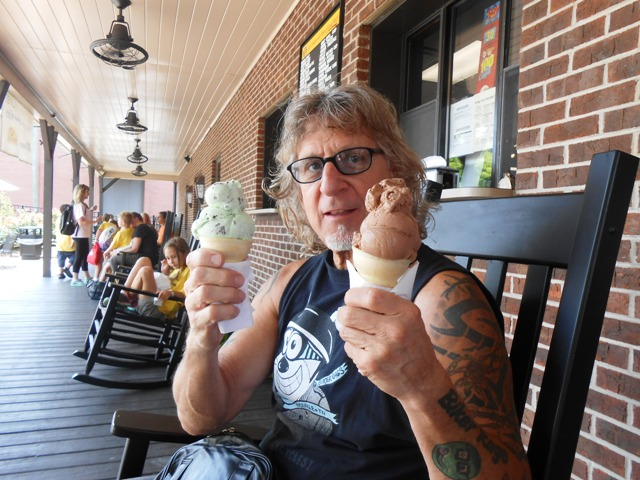After the tour, we turned in our tickets for ice cream. YUM!