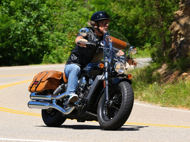 Jeff on his Indian Scout.