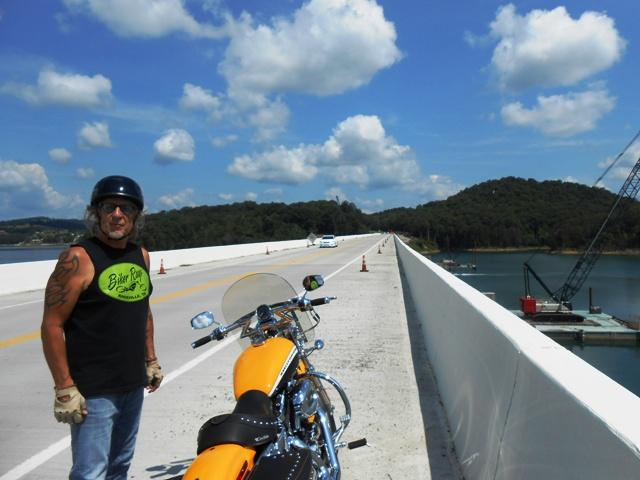 Jeff on the bridge.