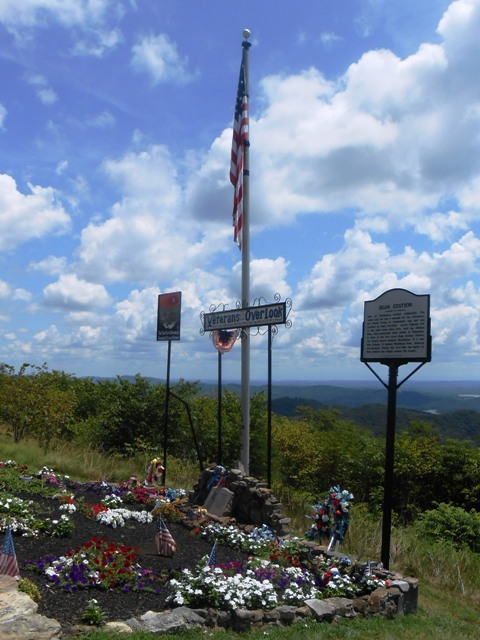 Memorial for veterans at the Overlook.