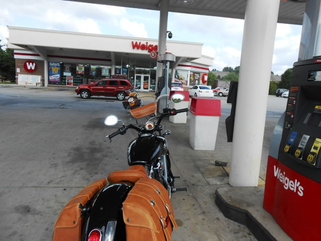 Fueling up at Weigel's in North Knoxville.