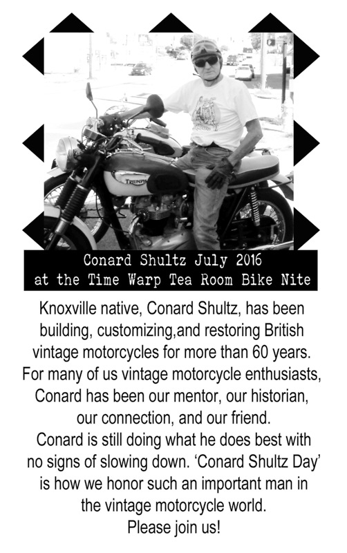 Conard is 83 years old and still riding and making custom motorcycles.