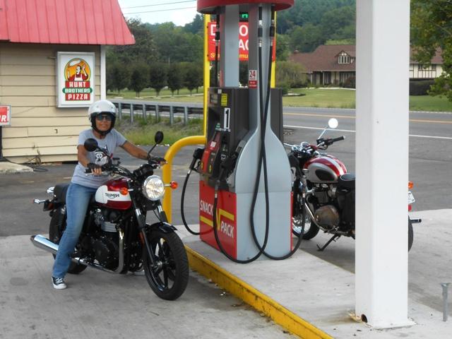 Fuel stop in Coalfield.