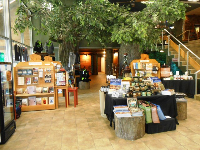 There is a gift shop and museum inside the Visitor Center.