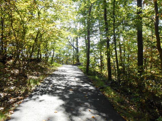 The trail is nicely maintained.